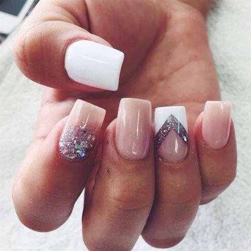 квадратные ногти - пример 1