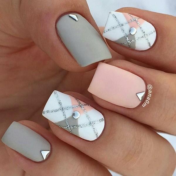 квадратные ногти - пример 3