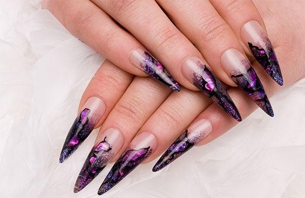 форма ногтей стилет - пример 4