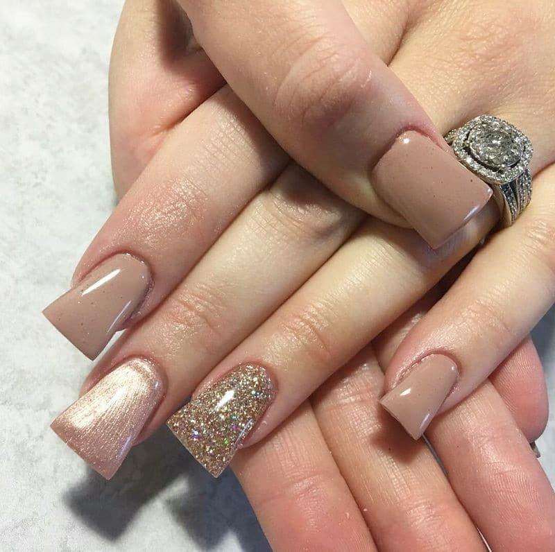 форма ногтей трапеция - пример 1