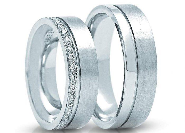 кольца шайбы из белого золота