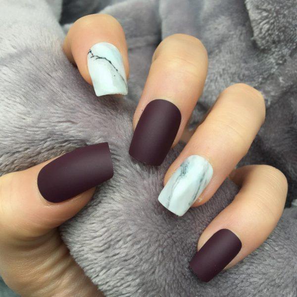 квадратные ногти - пример 2