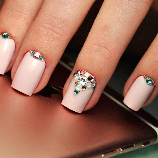 квадратные ногти - пример 4