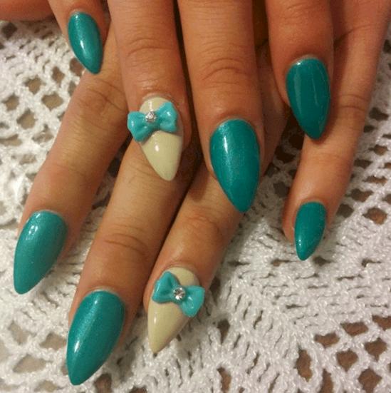 форма ногтей горная вершина - пример 4