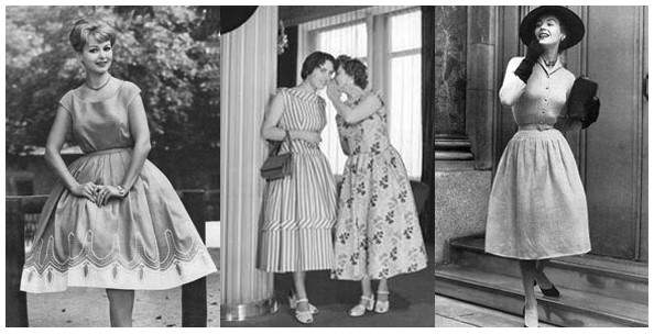 коктельные платья 40-50 годов