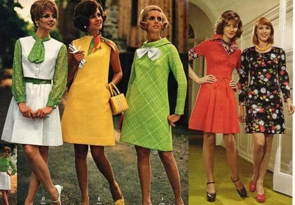 коктейльные платья 60х годов